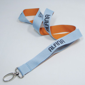 Superior quality factory printing logo different color sides lanyards