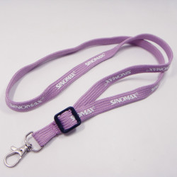 Custom deployment design purple color name badges holder neck strap