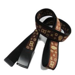 Fashion fabric polyester satin woven logo custom strap weaving belt