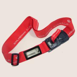 大红可称重密码插扣箱包带名片夹易辨识旅行托运带
