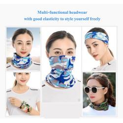 Blue wove cloth swim bandana tube tie corset design printed crop top headbands