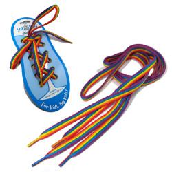 Gradient rainbow color lace kids adult unisex sneakers shoe laces strings