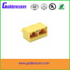 rj45 unshield female jack connector 8P8C for PCB 1*2 dual ports Connectors with vertical angle 180 degrees type