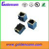 10/100/1000Base-T RJ45 modular jack connector with shell 8P8C Tab up/down female type inner transformer