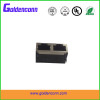 dual rj45 shield without led female jack connector 8P8C for PCB 1*2 dual ports Connectors with right angle type
