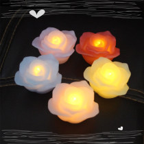 Candles wedding real wax flower shape battery light candles for wedding accessories,wedding lighting candle LED