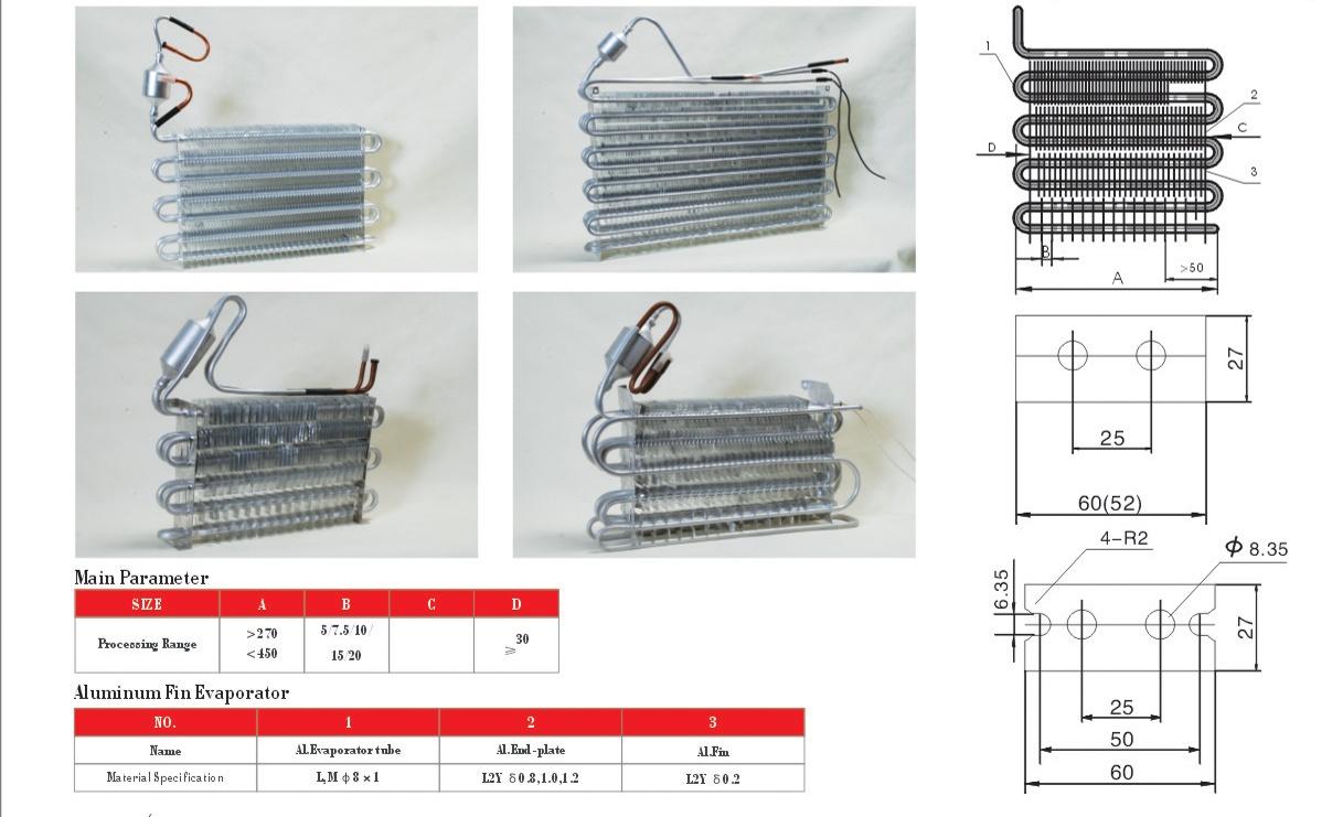 non-frost evaporator