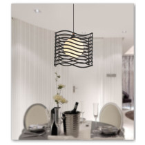 Iron Art Chandelier LED Droplights Wave Shape Pendant Lamps Decoraction Light for Dining Room Study Room Courtyard Exhibition Hall
