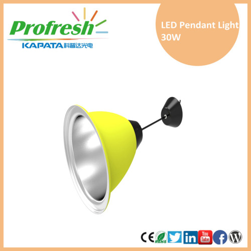 LED de alta bahía que enciende 30W llevó la iluminación pendiente del supermercado de la luz pendiente
