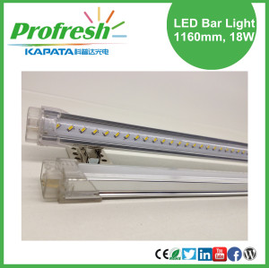 Pure white LED strip light 1160mm 18W for fruits shelf