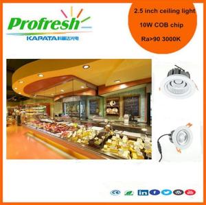 10 Watts COB chip 2. 5 inch Profresh ceiling light for deli or dessert lighting led downlight