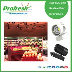 30W COB chip track light  Ra>90 4000k for fruits or vegetables display lighting green produce store supermarket