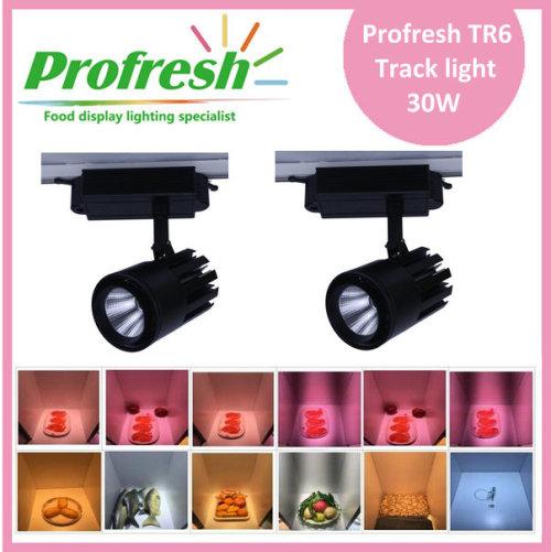 Profresh 30W carne COB LED luz de pista con 4 líneas de alambre