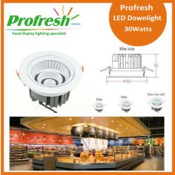 Azotea de techo a medida Profresh 30Watts CRI> 90 para iluminación de alimentos