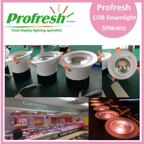 Profresh tailored ceiling down light 50Watts CRI>90 for food lighting