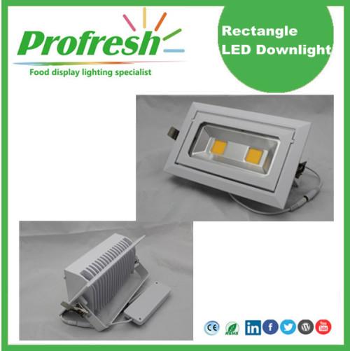 Plaf rectangles de techo de 50Watts CRI> 90 para iluminación de alimentos
