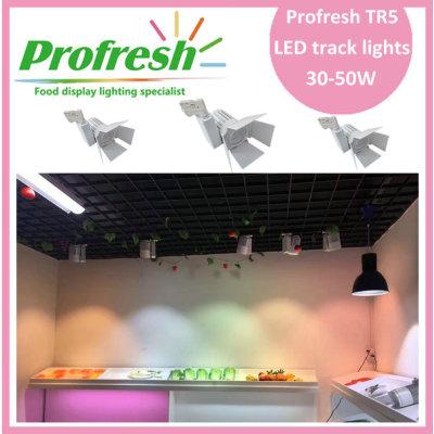 30W COB LED rayo de pista Ra> 90 para carnes, carnicerías, tiendas de carnicería o supermercados