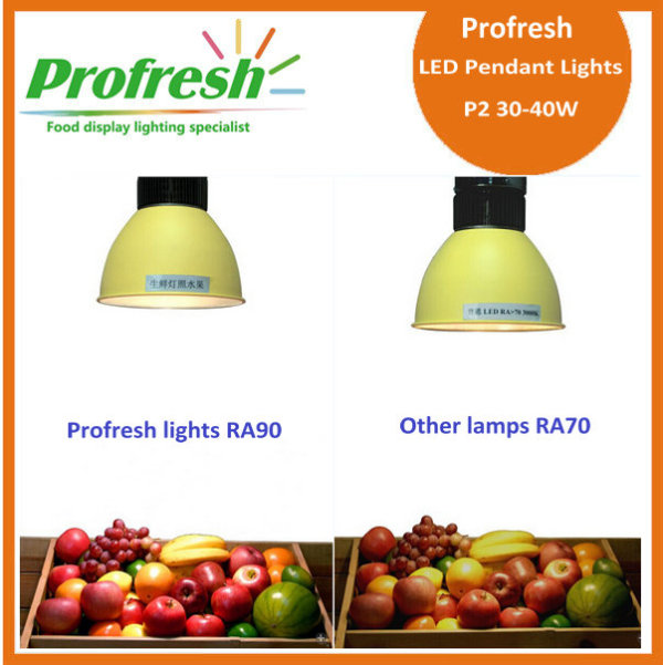 Profresh 40w llevó el colgante, colgando la iluminación pendiente de la comida fresca, nueva luz llevada 2015 del supermercado