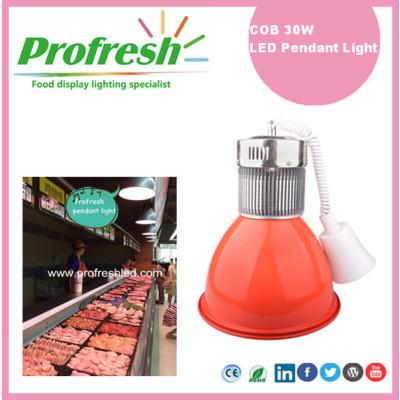 LED alta bahía iluminación 30Watts COB luz colgante supermercado carne pantalla