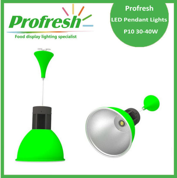 30w led pendant light with green color for vegetables , fruits ...