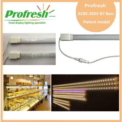 Luz de tira rígida del alto voltaje AC85-265V ip65, luz de la barra de la serie B7 para el pan y la panadería