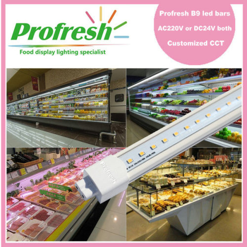 cost effective 1.2M IP64 internal driver interconnected refrigerated cabinet LED bar lights