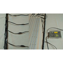 1M 12W led shelf light with magnet backside