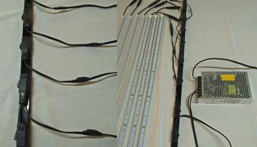 1M 12W llevó la luz del estante con la parte posterior del imán