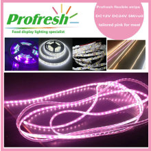 Luz de tira flexible impermeable de DC12V DC24V IP65 para la aplicación del alimento