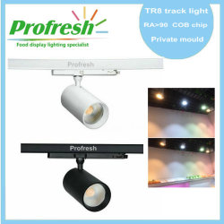 KAPATA new item :Profresh TR8 led track light RA>90 customized CCT for different food application