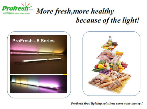 RA>90 860mm 13W  connectable LED Cabinet light customized PINK for meat 3 years warranty CE ROHS