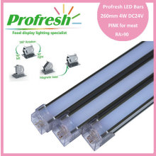260mm 4W DC24V RA>90 profresh food display lightings for meat customized PINK CE/RoHS