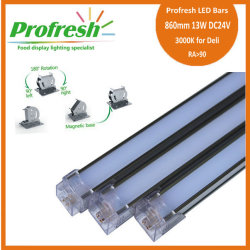 860mm 13W DC24V RA>90 profresh food display lightings for Deli customized 3000K CE/RoHS
