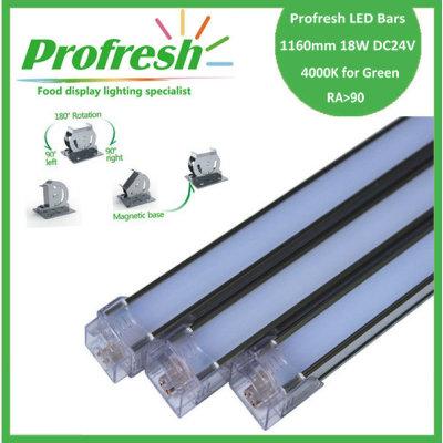 1160mm 18W DC24V RA>90 profresh food display lightings for Green customized 4000K CE/RoHS