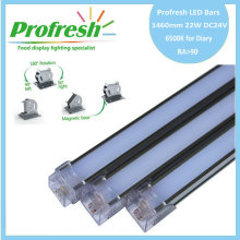 1460mm 22W DC24V RA>90 profresh food display lightings for Diary customized 6500K CE/RoHS