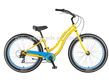 Beach Cruiser Beach Bicycle Steel for lady