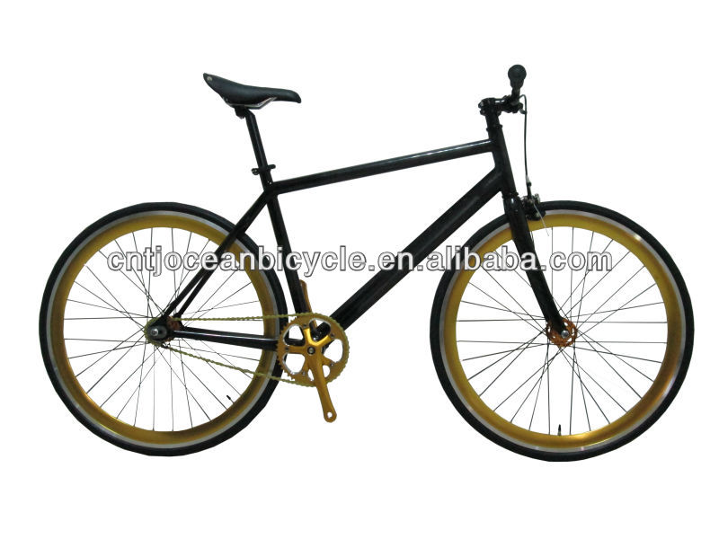 700C fixed gear bike with carbon fiber frame