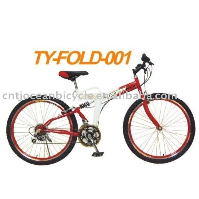 26 INCHES STEEL FRAME FOLDING MOUNTAIN BICYCLE
