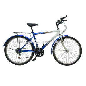 26 inch mountain bike steel white