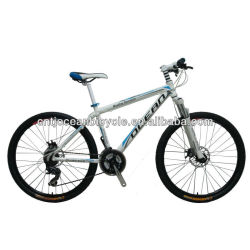 mountain bike with alloy aluminum frame