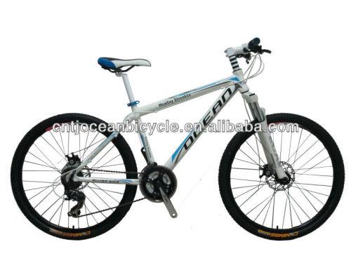 mountain bike with alloy aluminum frame