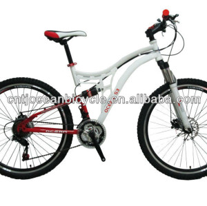 steel full suspension bicycle mountain bike