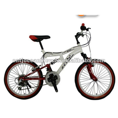 Steel full suspension bicycle mountain bike bicycle