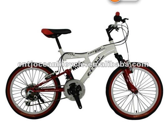 Steel full suspension bicycle mountain bike bicycle