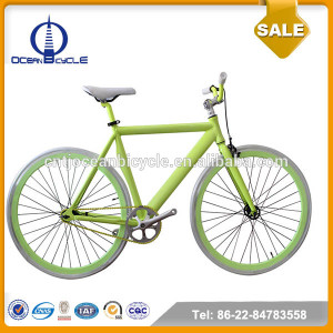 Aluminum Frame Singe Speed Green Color Road Bike