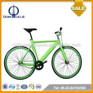 2015 New Model Aluminum Frame Singe Speed Green Color Road Bike/Good Sales Road Bicycle