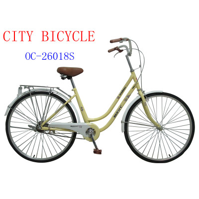 China Tianjin Factory Produce 26 City Ladies Red Bicycles For Sale