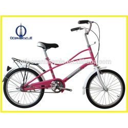 Tianjin Factory 20'' Inch Pink Ladies City Bicycle