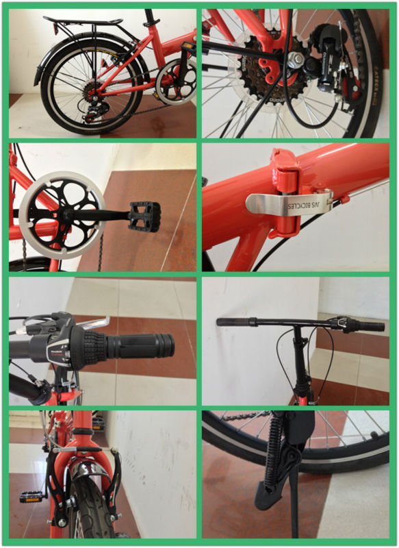 20 inch steel frame/with carrier cheap folding bike/bicycle/ on sale