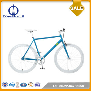 Hi-ten Steel Frame 700C Single Speed Mountain Bicycle